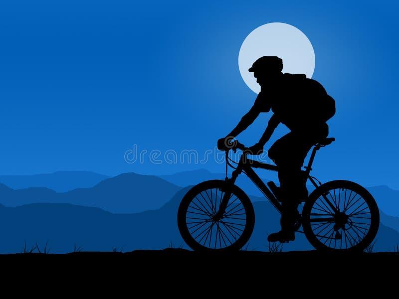 Motociclista ilustração stock