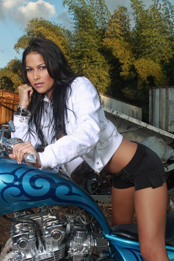 Motociclista Curvy fotografie stock