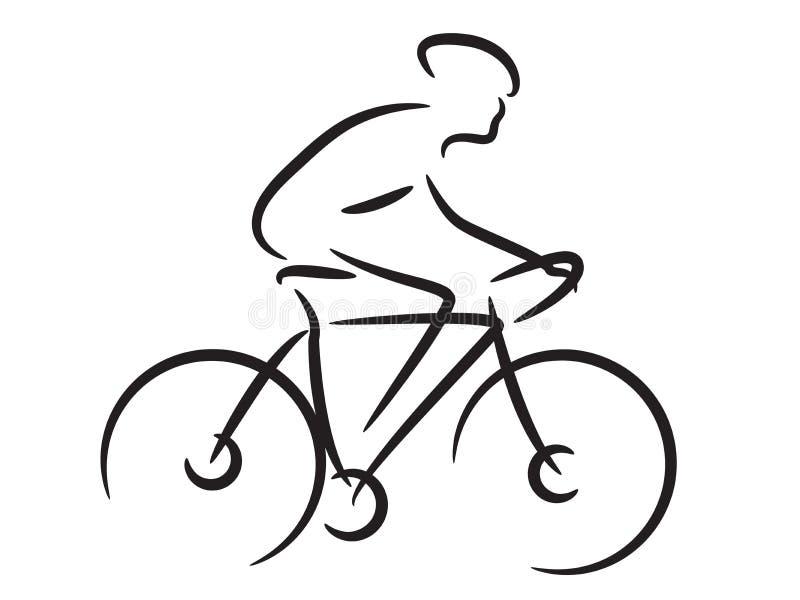 Motociclista da montanha ilustração do vetor