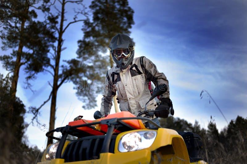 Motociclista de ATV foto de stock royalty free