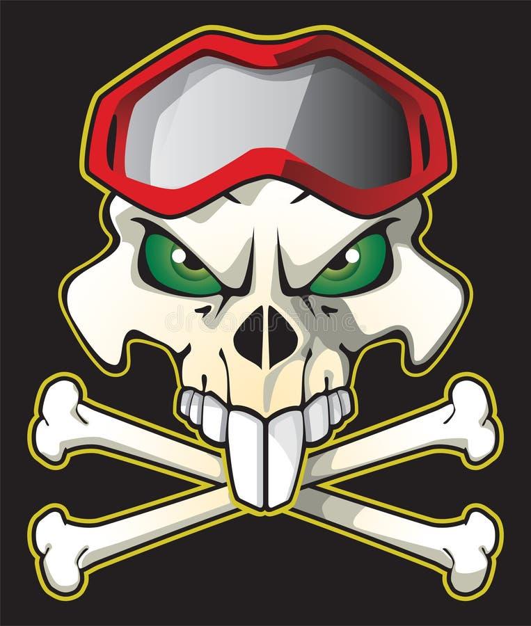 Motociclista del pirata fotografia stock