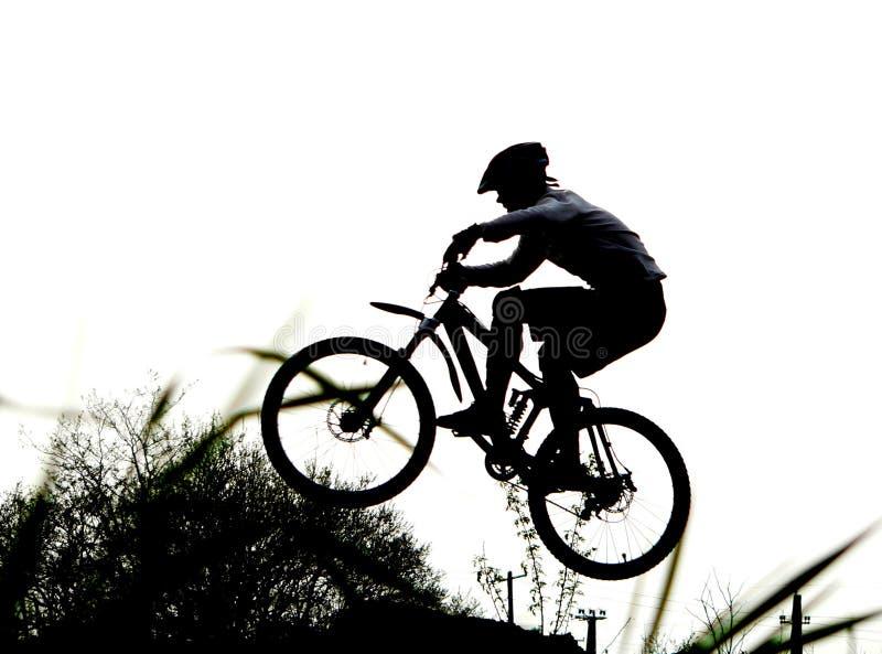 Motociclista della montagna immagini stock libere da diritti