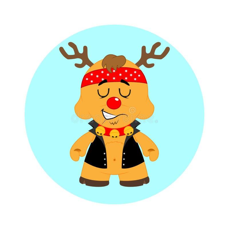 Motociclista della renna di Natale immagini stock