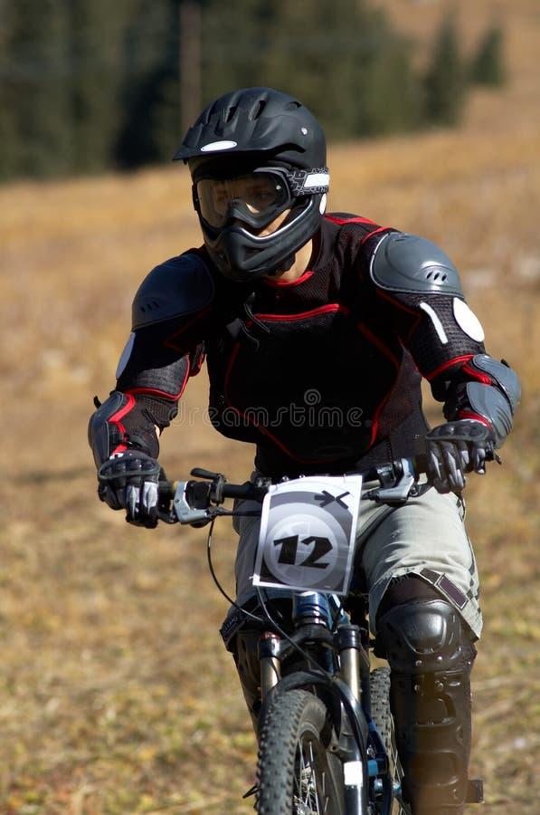 Motociclista nero immagini stock libere da diritti