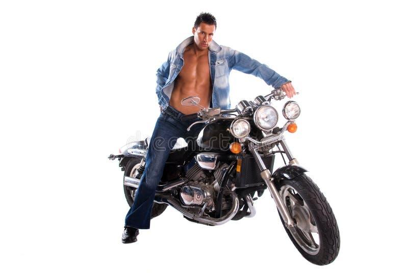 Motociclista 'sexy'. fotografia de stock royalty free