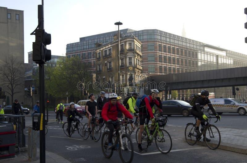 Motociclistas de Londres foto de stock