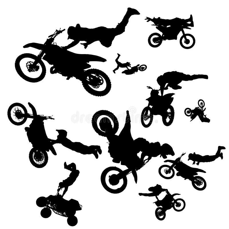 Motociclistas do vetor ilustração royalty free