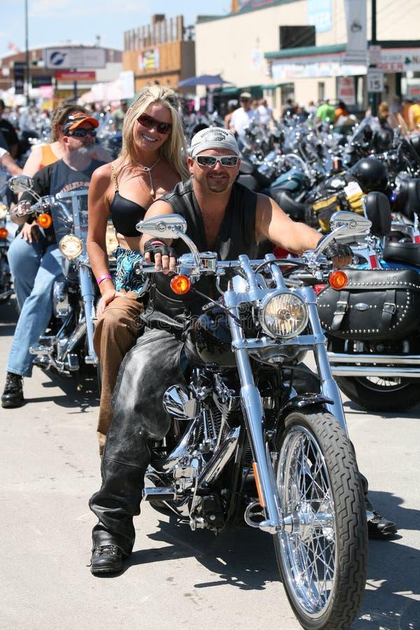 Motociclistas na reunião da bicicleta de Sturgis imagens de stock royalty free