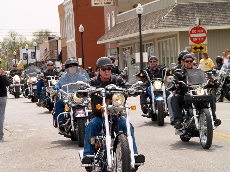 Motociclistas para a caridade fotos de stock