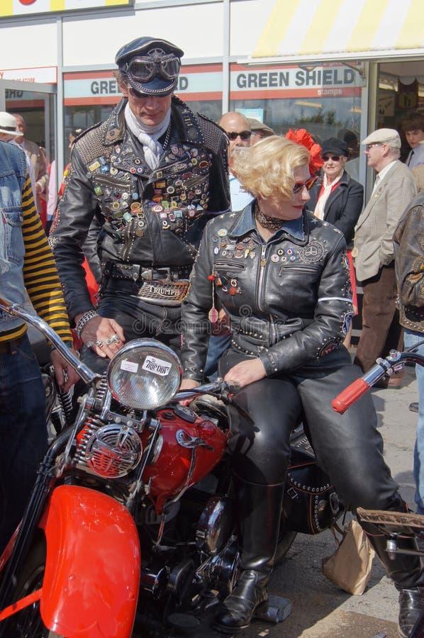 Motociclisti dell'annata immagini stock