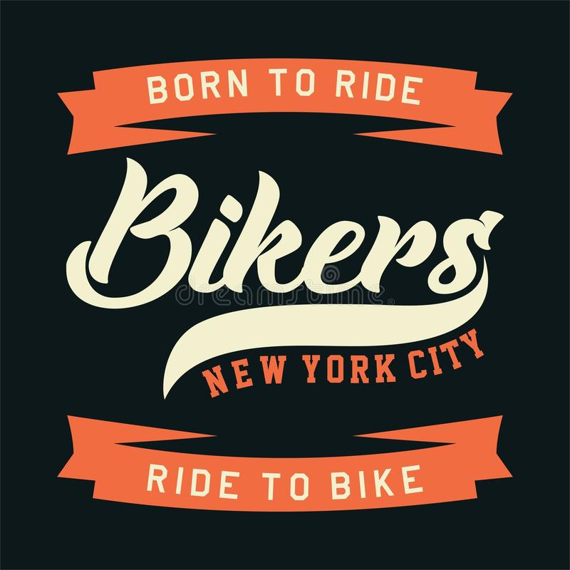 Motociclisti New York City illustrazione vettoriale