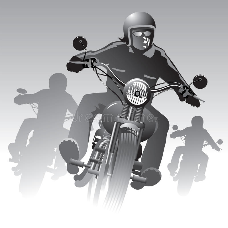 Motociclisti sulla strada royalty illustrazione gratis