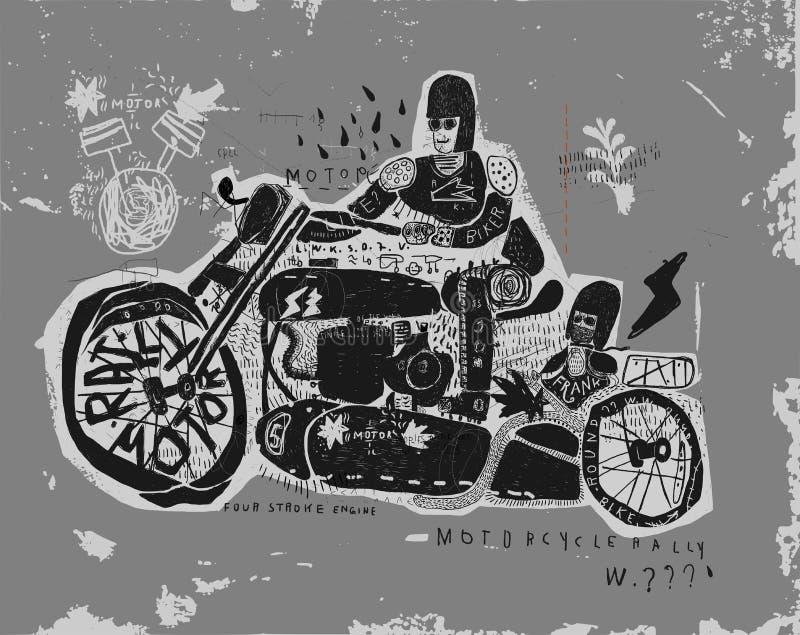 Download Motociclo illustrazione di stock. Illustrazione di movimento - 56880558