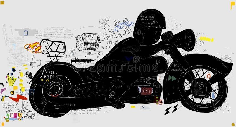 Motociclo illustrazione vettoriale