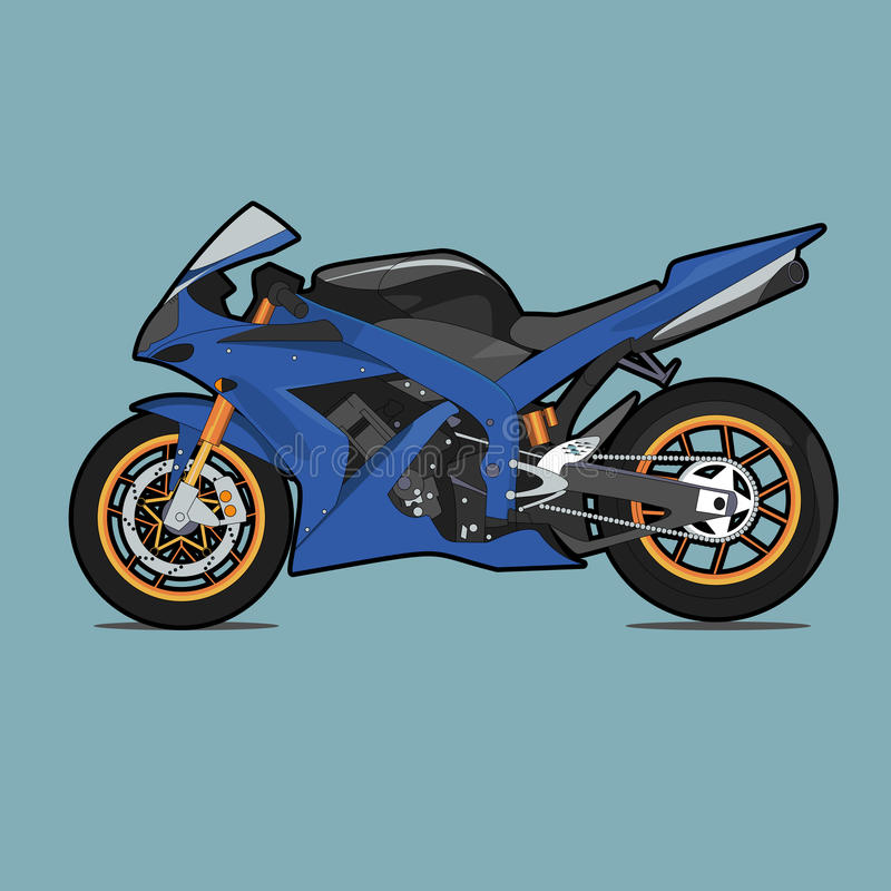 Motociclo blu di sport fotografia stock