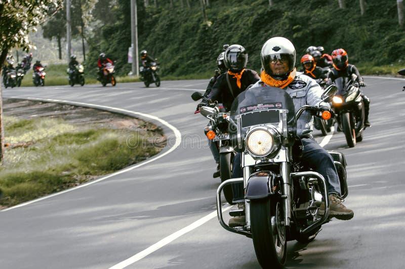 Motociclo che visita a Padalarang immagine stock libera da diritti