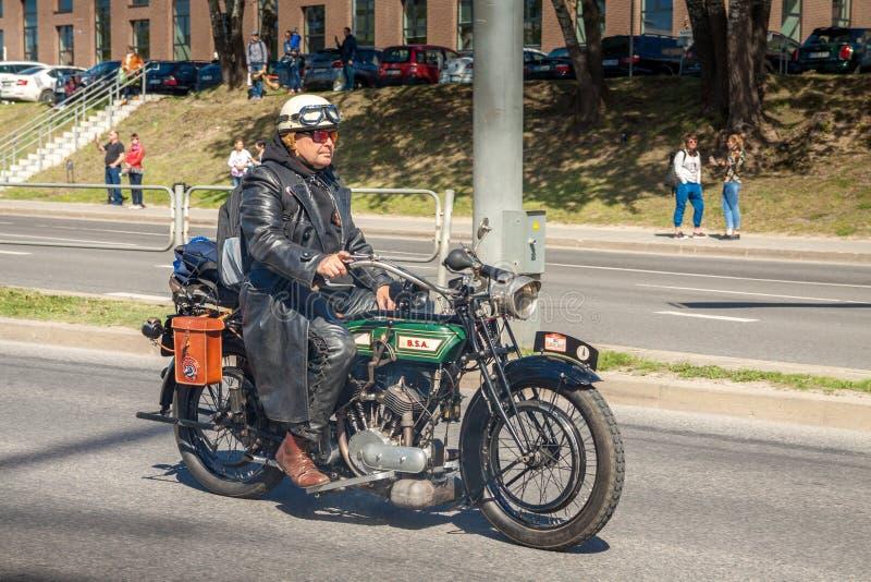 Motociclo classico BSA 1915 K di modello 557cc fotografie stock libere da diritti