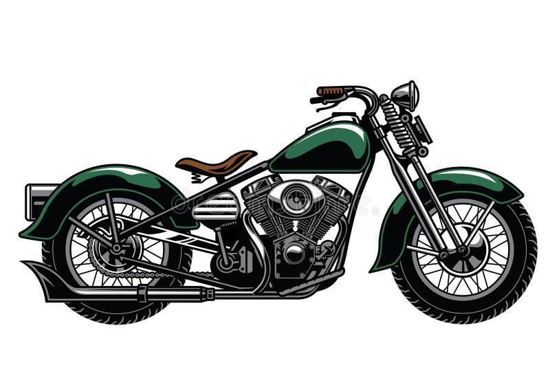 Motociclo d'annata illustrazione vettoriale