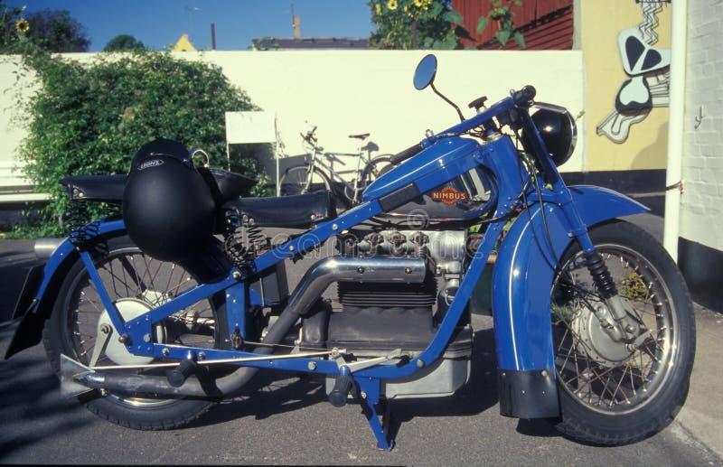 Motociclo danese classico Nimbus fotografia stock