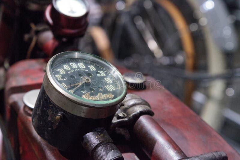 Motociclo di Ace dell'indiano di rosso 1927 immagine stock
