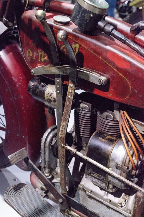 Motociclo di Ace dell'indiano di rosso 1927 fotografia stock libera da diritti