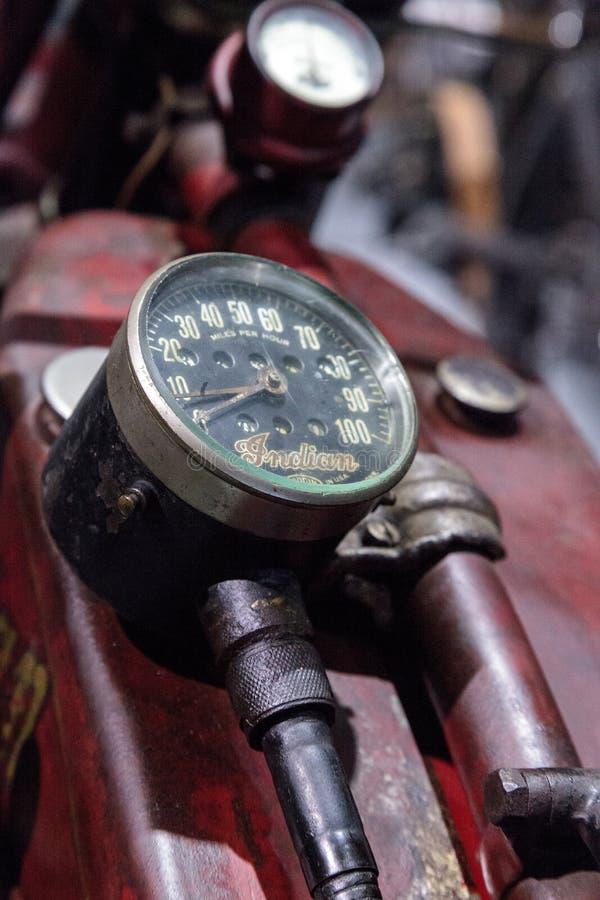 Motociclo di Ace dell'indiano di rosso 1927 fotografia stock