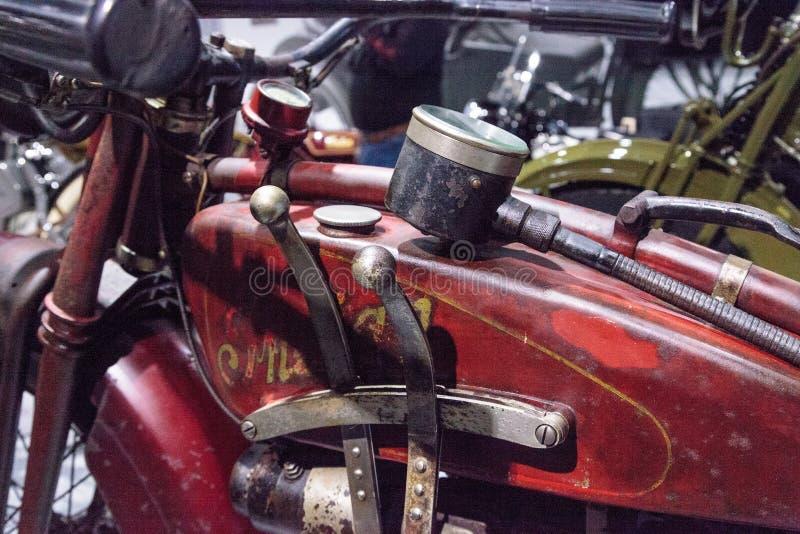 Motociclo di Ace dell'indiano di rosso 1927 immagine stock libera da diritti