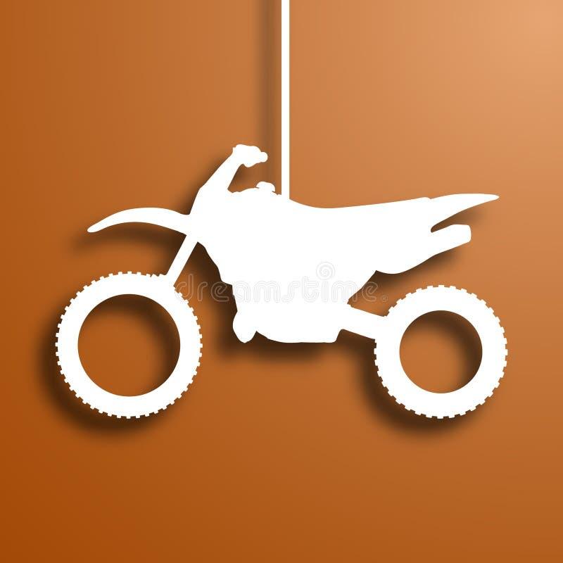 Motociclo di carta royalty illustrazione gratis