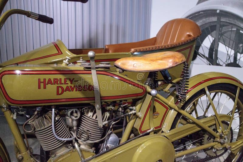 Motociclo 1922 di Harley-Davidson FD di verde fotografia stock
