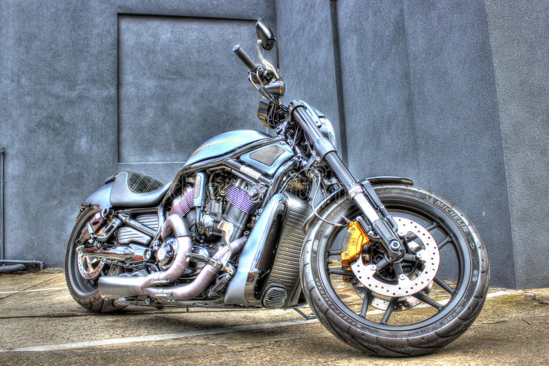 Motociclo moderno di Harley Davidson immagine stock libera da diritti