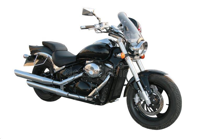 Motociclo nero. fotografia stock