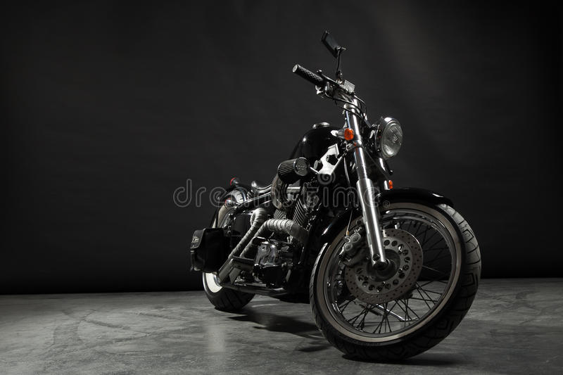 Motociclo nero immagine stock