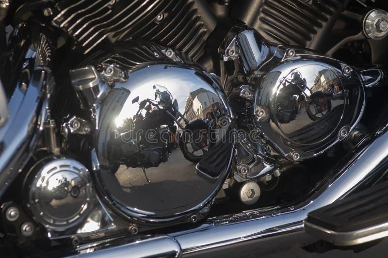 Motociclo Refletido em Motociclo imagens de stock