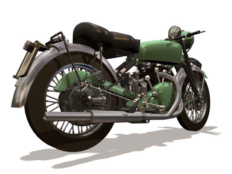 Motociclo retro royalty illustrazione gratis