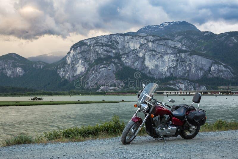 Motociclo in Squamish immagine stock libera da diritti