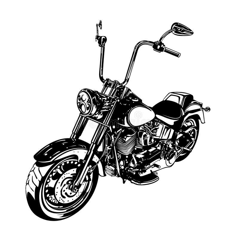 Motociclo su misura selettore rotante illustrazione vettoriale
