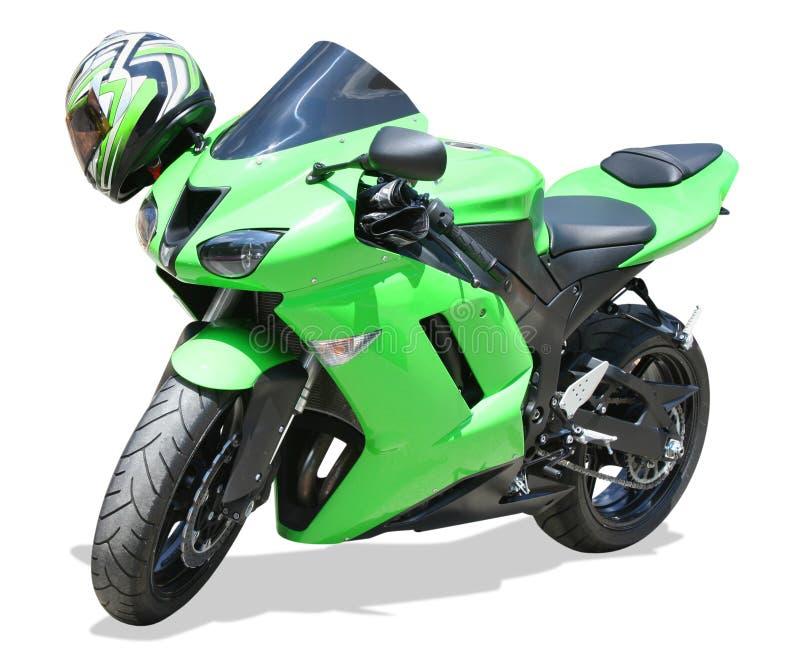 Motociclo verde immagini stock