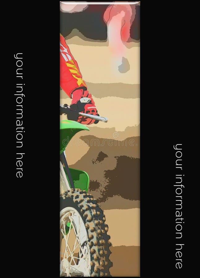 MotoCroßfahne 04 stockbild