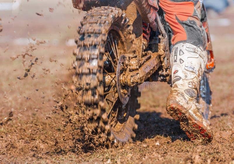 Motocross boots and wheel stock photos
