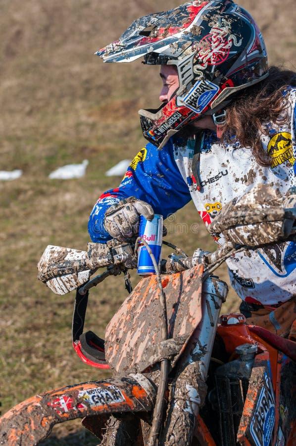 Motocross racer stock photos