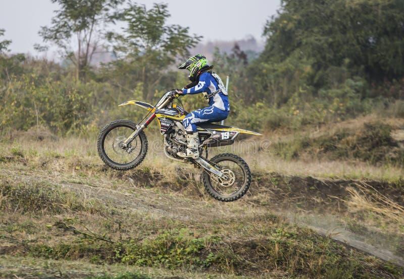 Motocross训练场,Mae Sot,泰国,Tak,2011年2月7日 库存图片