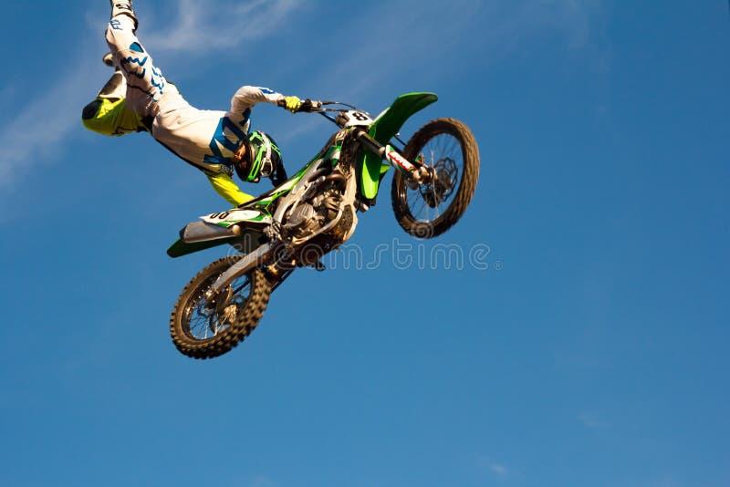 Motocross фристайла стоковые фотографии rf