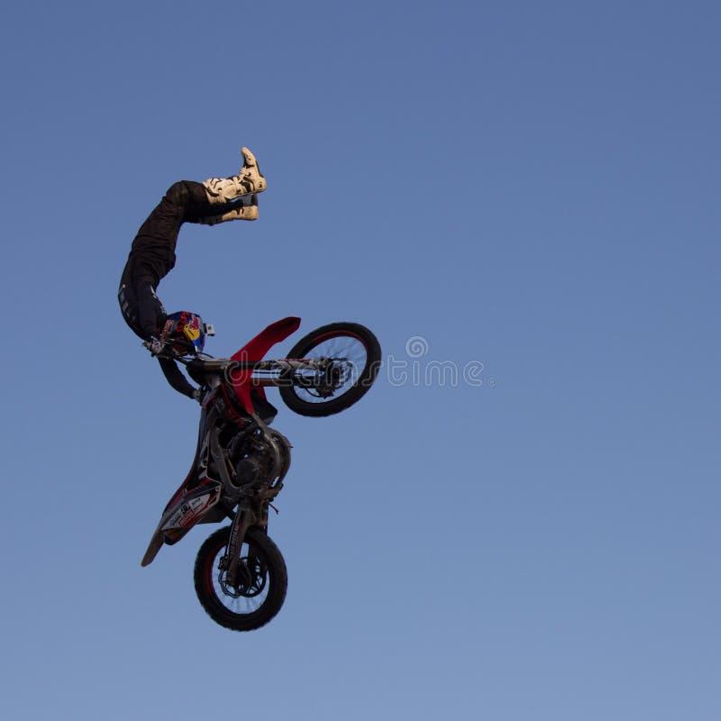 Motocross фристайла стоковое изображение