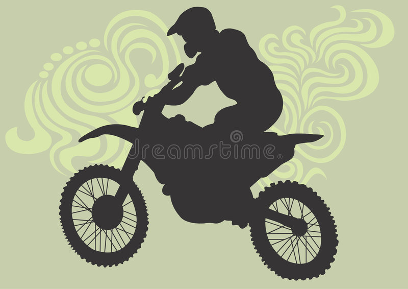 motocross vektor illustrationer