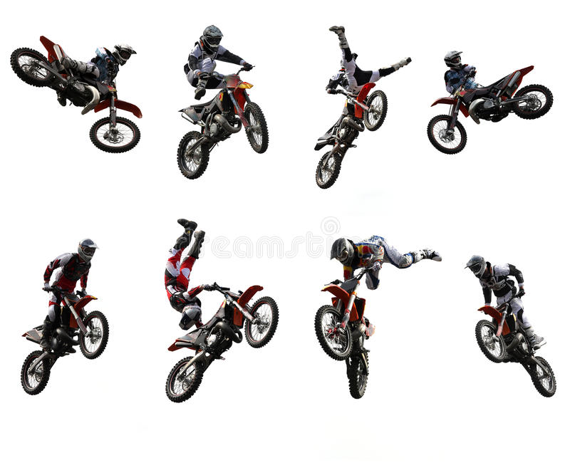 motocross illustration stock