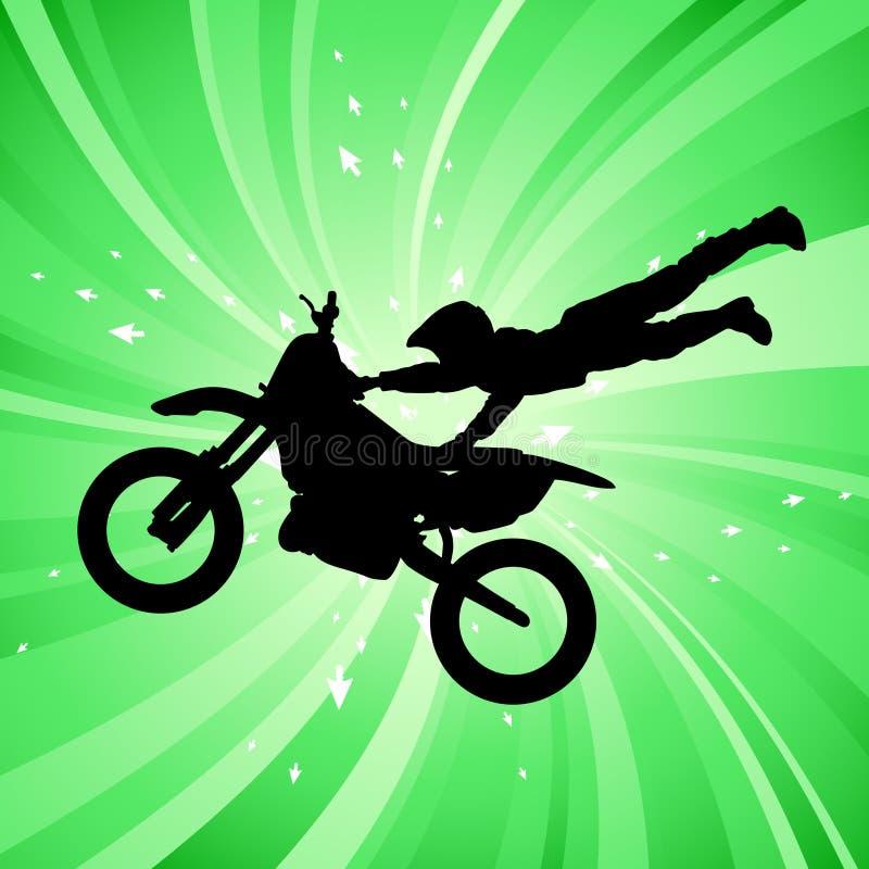 Motocross illustration stock