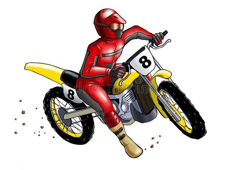 Download Motocross stock illustration. Image of offroad, motorcycle - 21678054