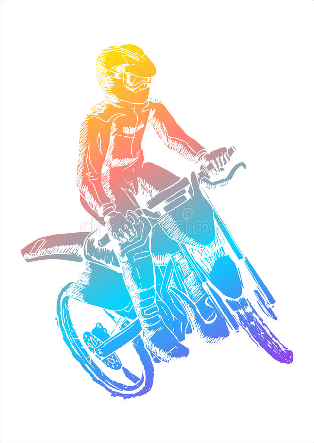 motocross royalty illustrazione gratis