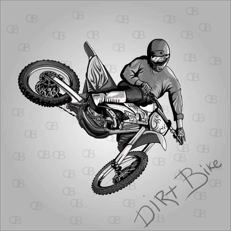 motocross иллюстрация штока