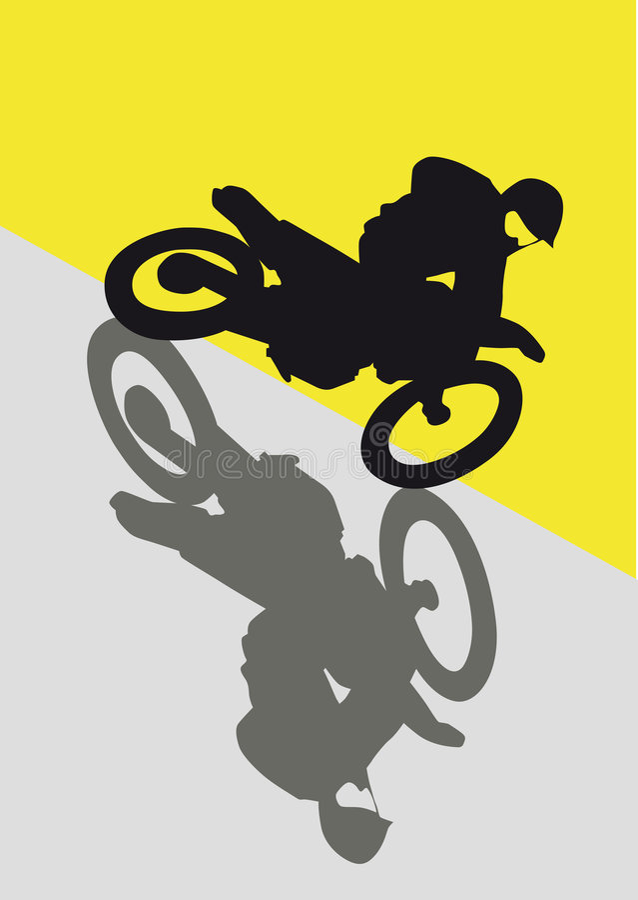 Motocross illustration libre de droits